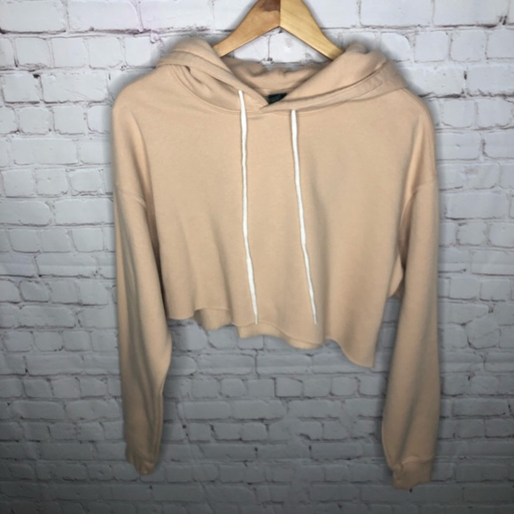 Wild Fable Tan Nude Cropped Hoodie XL